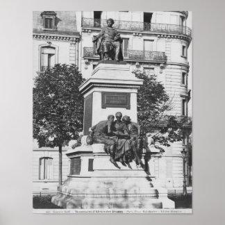 Monumento a Alejandro Dumas Pere, 1883 Poster