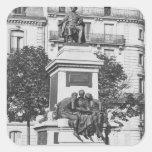 Monumento a Alejandro Dumas Pere, 1883 Pegatinas Cuadradas