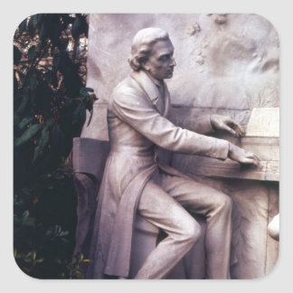 Monumento a Federico Chopin Pegatina Cuadrada