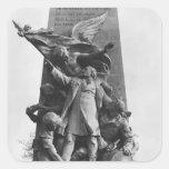 Monumento a León Gambetta Pegatina Cuadrada