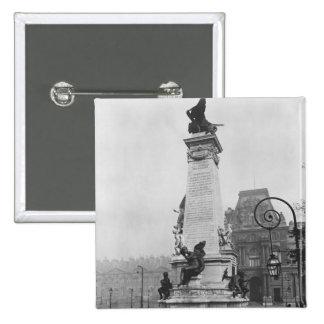 Monumento a León Gambetta Pin Cuadrado