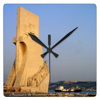 Monumento a los descubrimientos, Lisboa, Portugal Reloj Cuadrado
