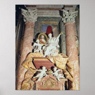 Monumento a Maria Clementina Sobieska 1739 Posters