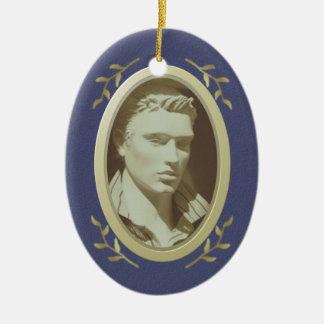 Monumento adaptable/conmemoración de la foto adorno ovalado de cerámica