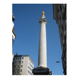 Monumento al gran fuego de Londres Postal