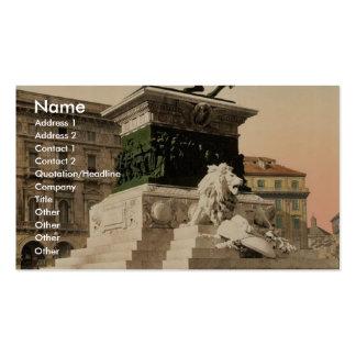 Monumento al vencedor Manuel, vintage de Milano, I Tarjetas De Visita