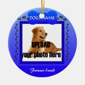 Monumento azul masculino del perro adorno para reyes