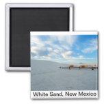 Monumento blanco de la arena, New México Imán De Nevera