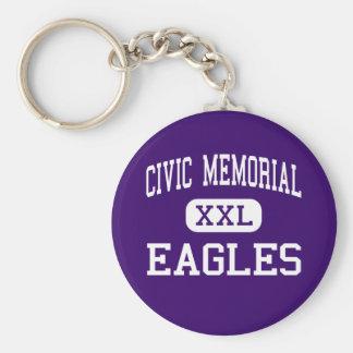 Monumento cívico - Eagles - alto - Bethalto Illino Llavero Redondo Tipo Pin