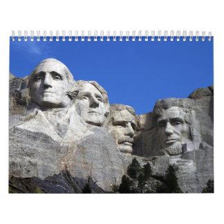 Monumento conmemorativo nacional del monte Rushmor Calendarios