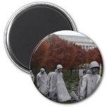 Monumento coreano y caída del Lincoln memorial Iman De Frigorífico
