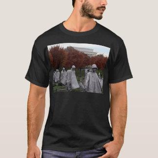 Monumento coreano y caída del Lincoln memorial Playera