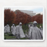 Monumento coreano y caída del Lincoln memorial Alfombrilla De Raton