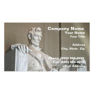 Monumento de Abraham Lincoln Tarjetas De Visita