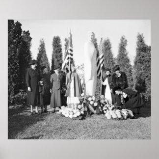 Monumento de Arlington a las enfermeras 1938 Posters