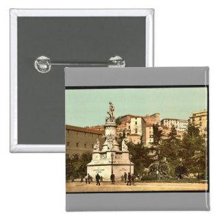 Monumento de Columbus, vintage Photochrom de Génov Pin