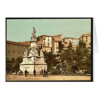 Monumento de Columbus, vintage Photochrom de Génov Tarjeton