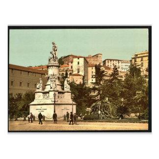 Monumento de Columbus, vintage Photochrom de Génov Postal