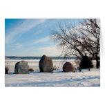 Monumento de Dan Fogelberg en tarjeta del invierno