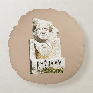 Monumento de David Ben-Gurion Cojín Redondo
