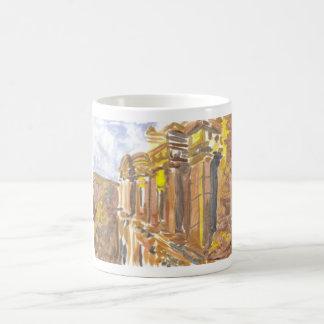 Monumento de Deir del Al en la taza del Petra