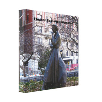 Monumento de Eleanor Roosevelt Impresión En Lona