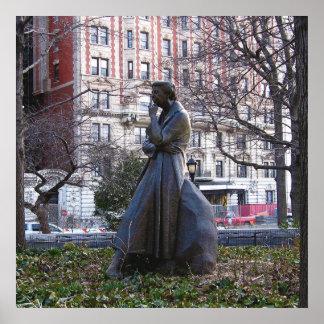 Monumento de Eleanor Roosevelt Póster