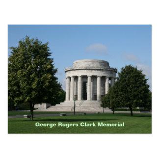 Monumento de George Rogers Clark Tarjeta Postal
