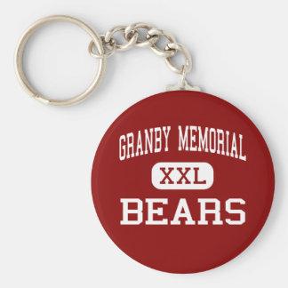 Monumento de Granby - osos - centro - Granby Llavero Redondo Tipo Pin