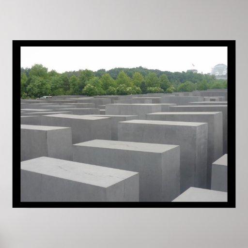 monumento de guerra Berlín Poster