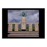 Monumento de guerra, Berlín, soldado y arma soviét Tarjetas De Visita