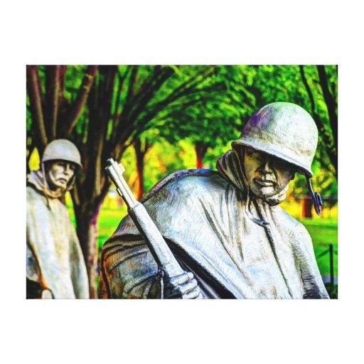 Monumento de Guerra de Corea Impresion De Lienzo