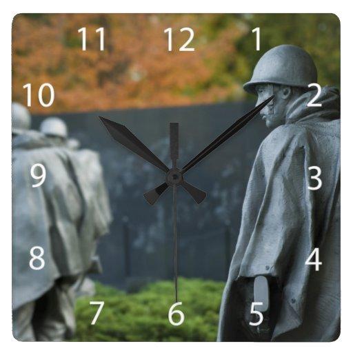 Monumento de Guerra de Corea Relojes De Pared