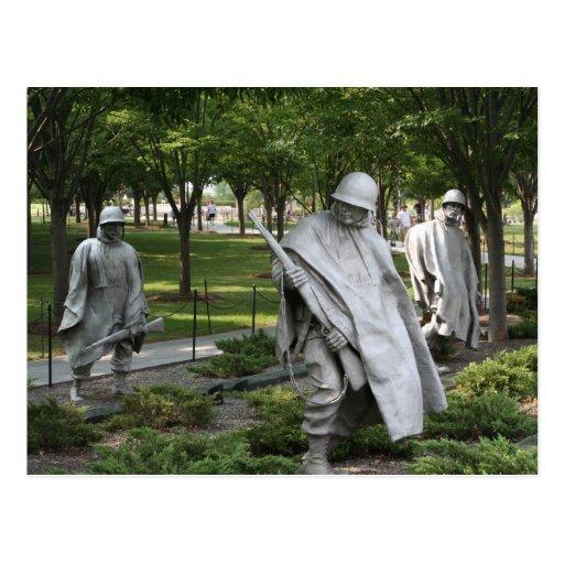 Monumento de Guerra de Corea Tarjeta Postal