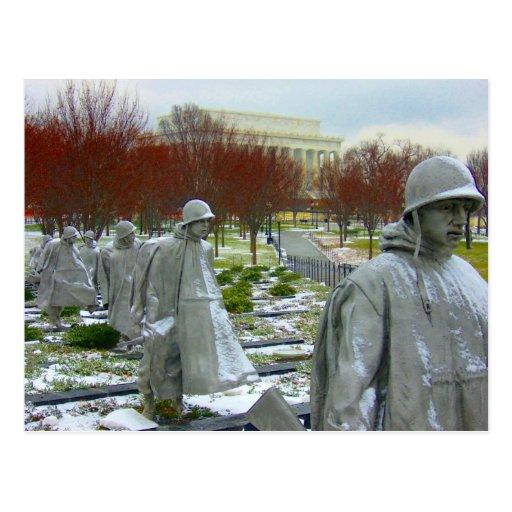 monumento de Guerra de Corea Tarjetas Postales