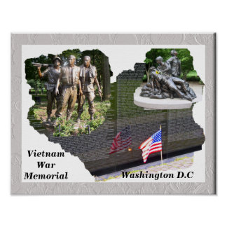 Monumento de guerra de Vietnam Póster