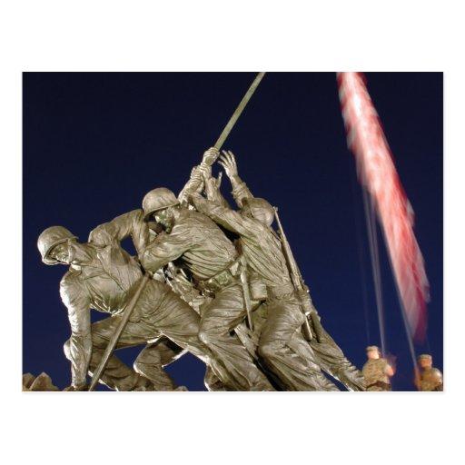 Monumento de guerra del USMC Tarjeta Postal