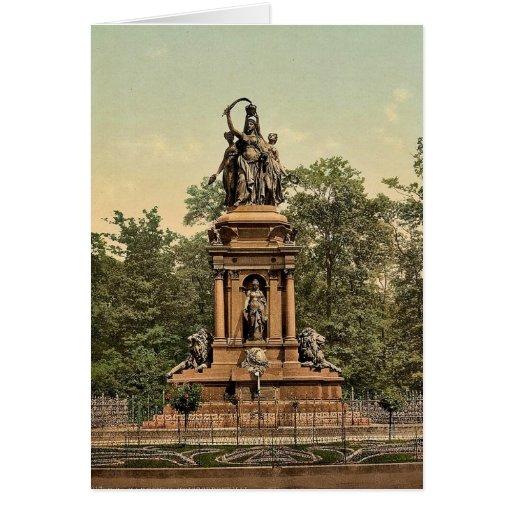 Monumento de guerra, foto rara de Hannover, Hannov Tarjeta De Felicitación