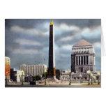 Monumento de guerra Indianapolis Indiana Felicitación