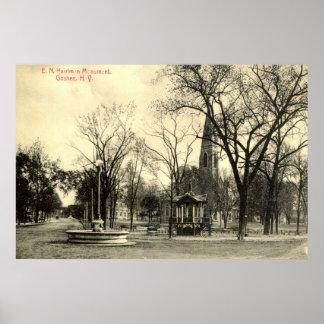 Monumento de Harriman, vintage 1916 de Goshen NY Póster