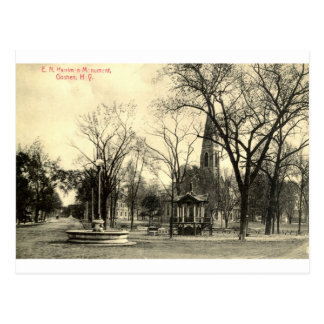 Monumento de Harriman, vintage 1916 de Goshen NY Postal