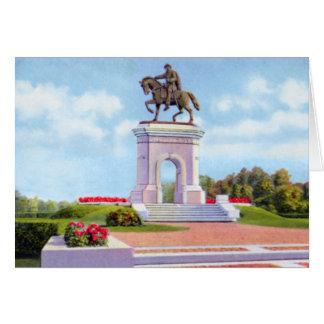 Monumento de Houston Tejas Sam Houston Tarjeta