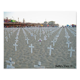 Monumento de Iraq del embarcadero de Santa Mónica Impresiones Fotograficas