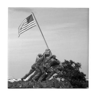 Monumento de Iwo Jima Azulejo Cuadrado Pequeño
