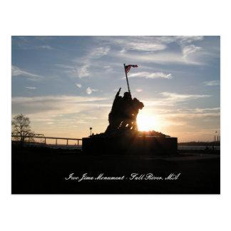 Monumento de Iwo Jima - Fall River mA Tarjetas Postales