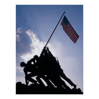 Monumento de Iwo Jima Póster