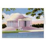 Monumento de Jefferson del Washington DC Tarjeta