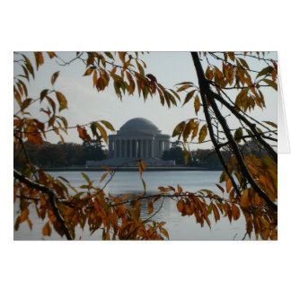 Monumento de Jefferson en la caída Tarjetón