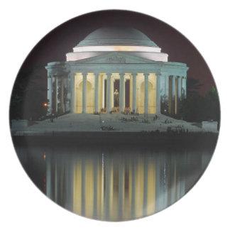 Monumento de Jefferson Platos Para Fiestas