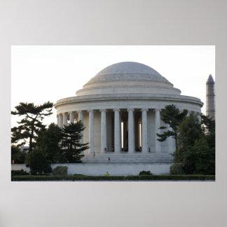 Monumento de Jefferson Póster